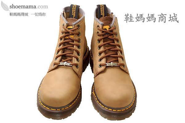 ae马丁鞋*棕色7孔短靴*外侧拉鍊*防滑*ae199