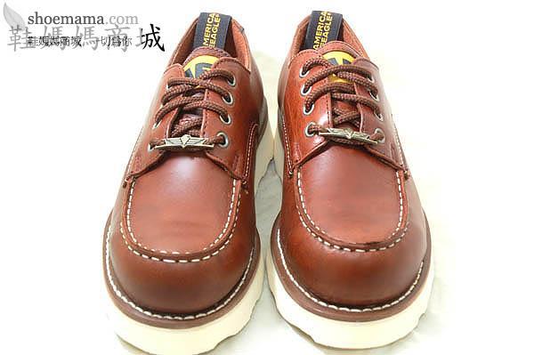 鞋盖布贴画-美国AE马丁鞋 咖啡色车盖白大底 真皮低筒 ae241